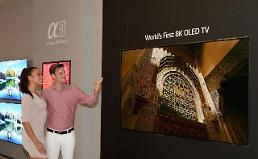 .LG to introduce 88-inch 8K OLED TV at tech fair in Berlin.