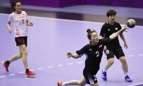亚运女子手球韩国29比23战胜中国摘金