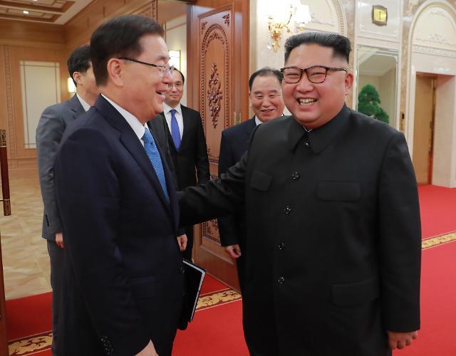 韩国特使团与金正恩举行会谈