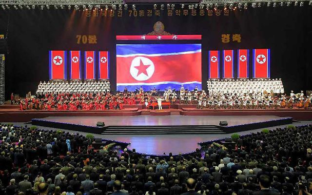 朝鲜举行盛大文艺演出庆祝建国70周年