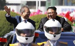 .[PHOTO]  S. Korean President visits Pyongyang to attend inter-Korean summit.