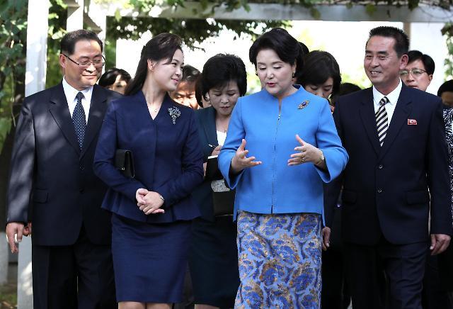 金正淑与李雪主访问平壤音乐大学