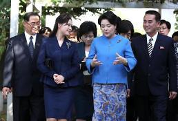 .金正淑与李雪主访问平壤音乐大学.