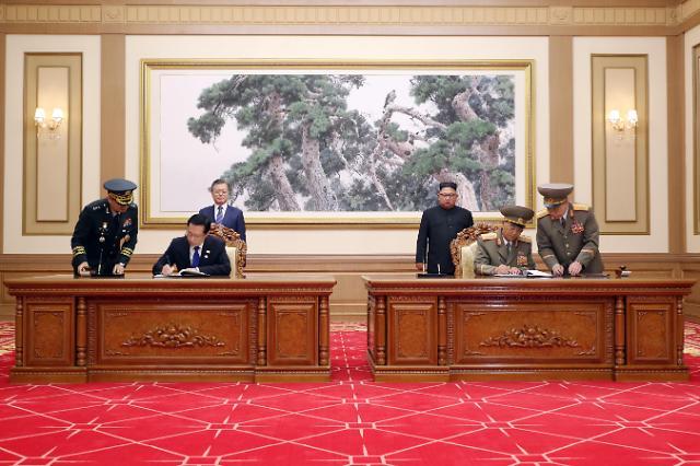 韩朝签订军事协议 商定全面停止敌对行为