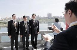 .访朝韩国企业家首站参观苗圃.
