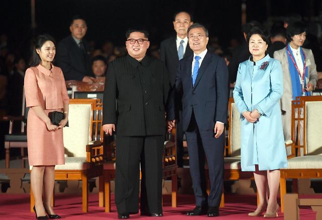 """韩朝第一夫人平壤会谈""""时装秀"""""""