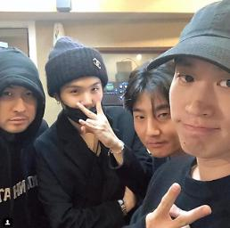 .BTS Suga and hip-hop trio Epik High excite fans with selfie.