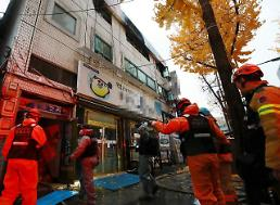 .At least 7 killed in fire at cheap Seoul accommodation facility .