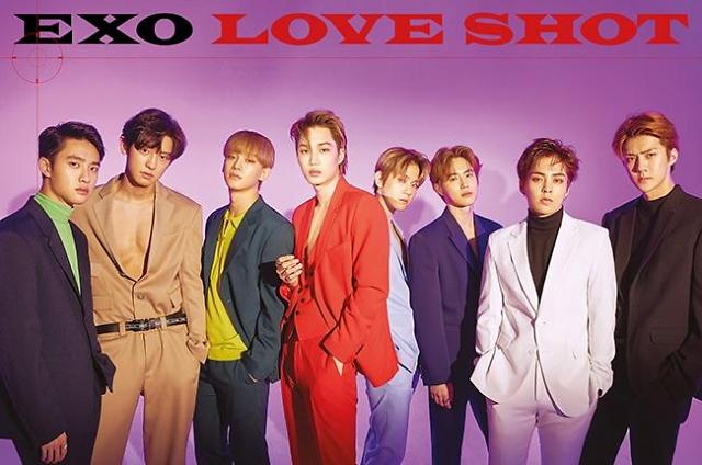Boy band EXO tops iTunes song chart in 40 countries with new song 'Love Shot'