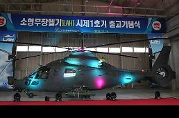 .KAI releases prototype of home-made light attack helicopter .