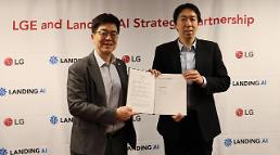 .LG Electronics partners with Silicon Valley startup Landing AI at CES.