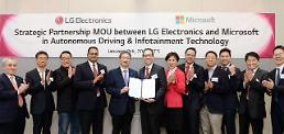 .LG partners with Microsoft to strengthen autonomous driving technology.