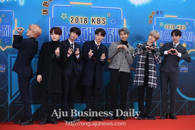 Boy band BTS voices gratitude to fans at music awards ceremony