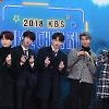 .Boy band BTS voices gratitude to fans at music awards ceremony.