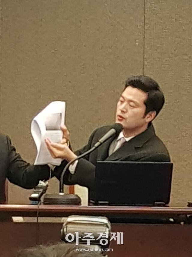 """김태우 """"송영길 의원 측근에 북한 모래사업 일감몰아주기 보고…조국 수석도 알았을 것"""""""
