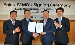 .Hyundai Motor set ups sales joint venture with Vietnamese partner.