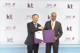 .KT signs technology cooperation deal with Saudi telecom company.