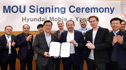 .​Hyundai Mobis teams up with Russian tech firm to develop driverless cars.