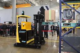 .Unmanned autonomous forklifts ready for sales this month in S. Korea.