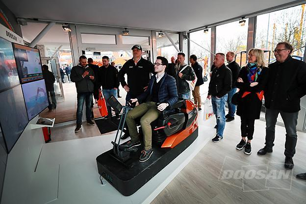 Doosan Infracore showcases remote operation of unmanned
