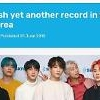 .Guiness highlights record-breaking streak by K-pop band BTS.