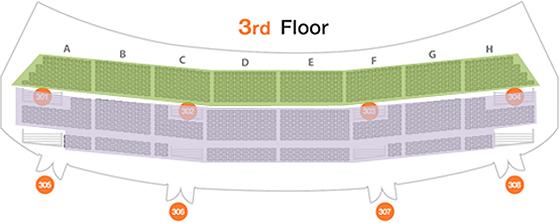 3층 좌석배치도