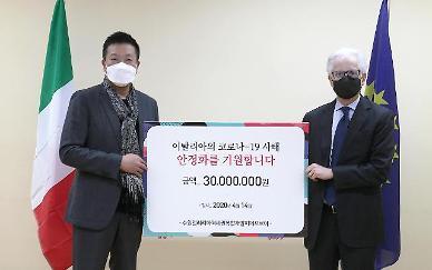 서울디앤씨·태영건설·미래에셋 컨소시엄, 이탈리아에 3000만원 기부