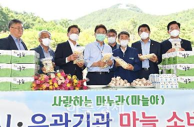 경북도·영천시, 마늘 수급안정 위한 '소비촉진 행사' 개최