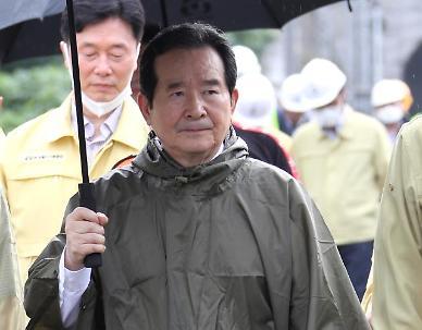 정 총리, 춘천 의암호 전복 사고 현장 방문...목요대화 불참
