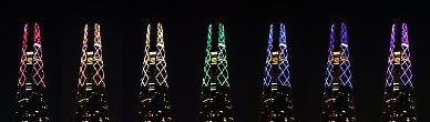 [포토] 롯데월드타워에일곱색깔희망의무지개가뜬다