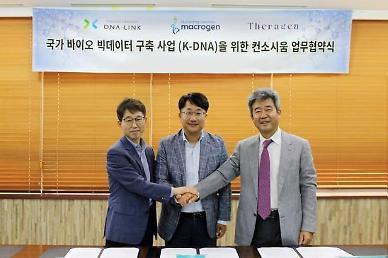 테라젠-마크로젠-디엔에이링크 컨소, K-DNA 사업 개시