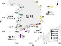 기후변화 탓...전국 해수면 10년만에 1.18배 상승