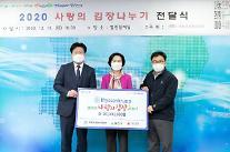 티센크루프엘리베이터, 양천구 사랑의 김장 나누기 2000만원 후원