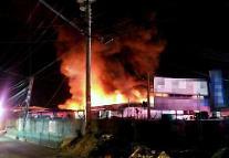 차량 80여대 불타... 인천 중고차수출단지 큰불