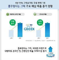 풀무원다논 그릭, 대형마트 온라인 매출 54% 성장