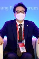 [포토] 한·미 리더스 평화전략대화 참석하는 안민석 의원