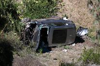 [포토] 골프황제 타이거 우즈의 차량 전복사고 현장