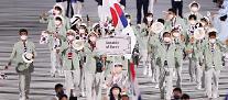 [도쿄올림픽 2020] 김연경·황선우 기수로…대한민국, 103번째로 입장