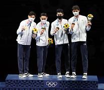 [도쿄올림픽 2020] 사브르 단체전 금메달 딴 한국 남자 펜싱