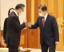 文, 中왕이와 '베이징올림픽' 논의…'시진핑 방한', 이번에도 원론적 답변만
