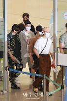 [포토] 외교 특사 방탄소년단, 유엔총회 일정 마치고 귀국