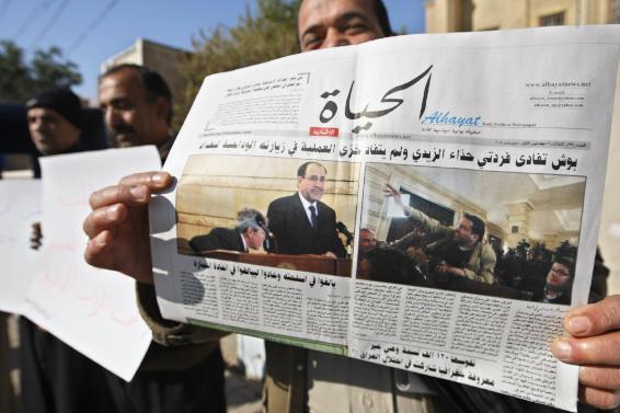 .[영문] Thousands rally in Iraq to support Bush shoe thrower.