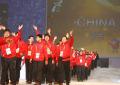 .中国代表团在平昌冬季特奥会开幕式上入场.