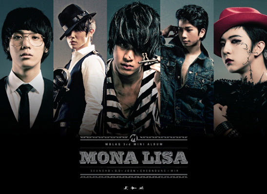 K-pop band MBLAQ released a new single Mona Lisa in Japan