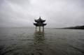 <영상중국> 겹태풍에 물에 잠긴 항저우 시후