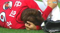 競技中、急所に球当たったユン・ヒサン…現在の状態は?