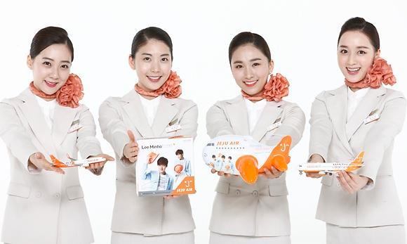 李敏镐周边产品走入济州航空国际航线