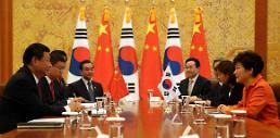.<习近平访韩—首脑会晤>韩中首脑会晤在韩举行.