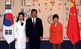 .<习近平访韩—首脑会晤>韩中首脑拍摄纪念照.