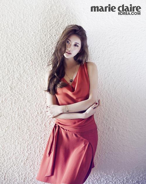 [포토] 수지, 고혹적인 붉은 드레스